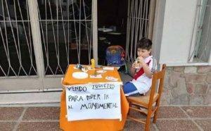От любов към футбола: 6-годишен фен на Ривър разтопи сърцата на всички
