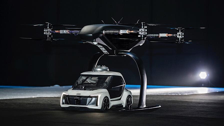 <p>Летящото такси на Audi направи първия си полет</p>