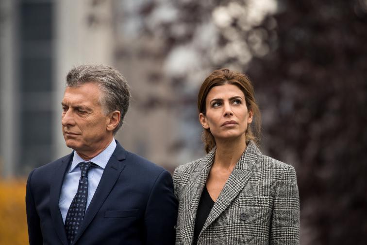 Хулиана Авада и съпругът ѝ президентът на Аржентина- Маурисио Макри