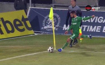 Трети мач - трети гол от корнер за Лудогорец
