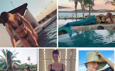 Секси на плажа - ваканцията на красавиците в тениса