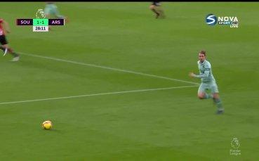 Саутхемптън - Арсенал 0:2 /първо полувреме/