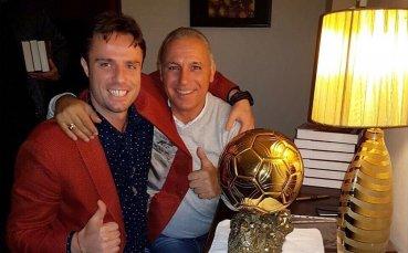 Теди Салпаров редом с Камата и Златната топка