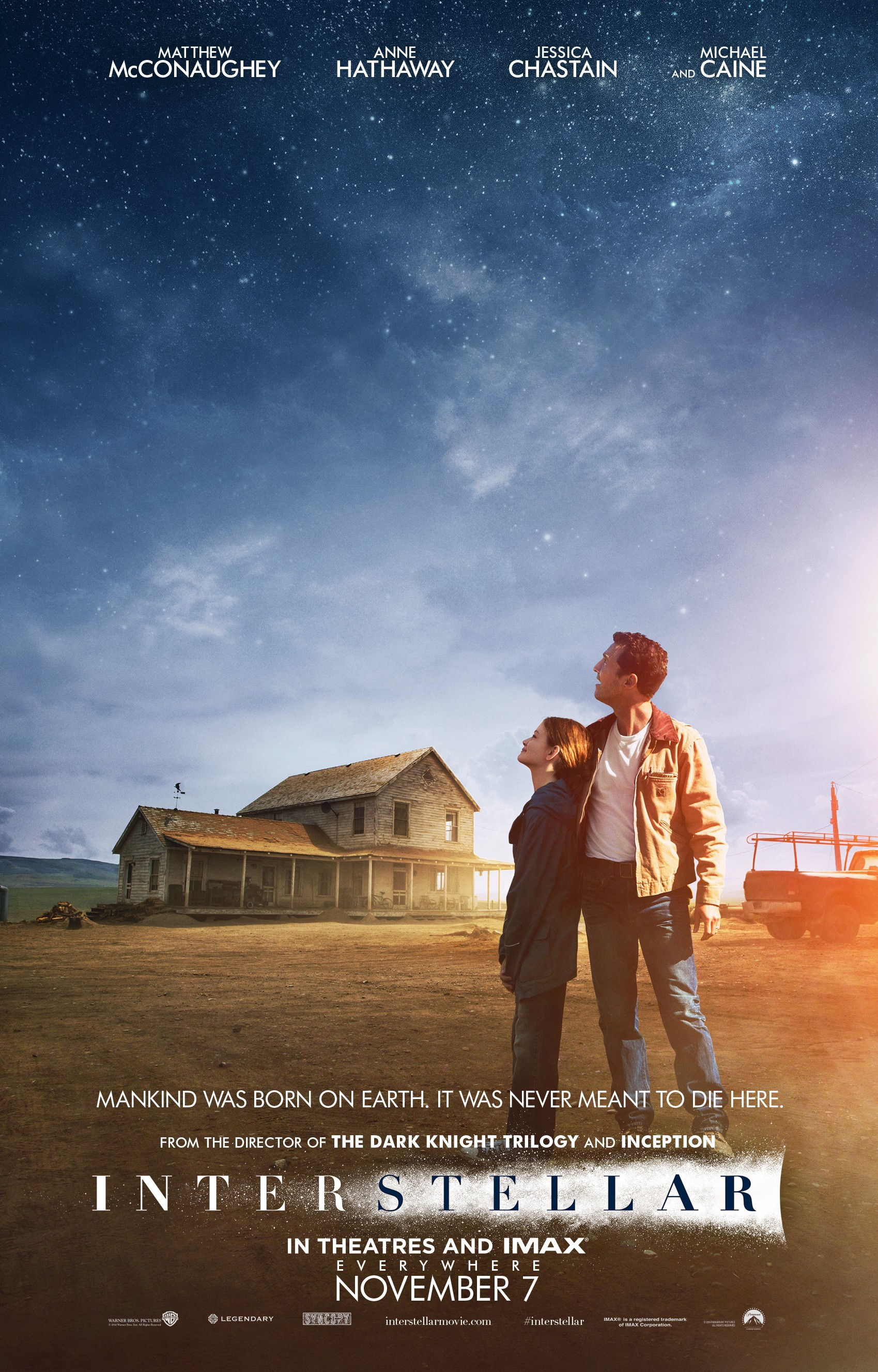 "14. Interstellar / ""Интерстелар"" (2014) – Режисьор: Кристофър Нолан; Участват: Матю МакКонъхи, Ан Хатауей, Майкъл Кейн"