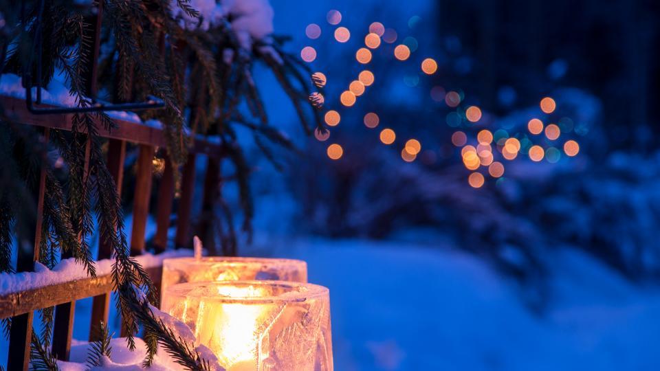 свещи зима