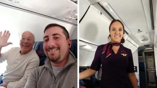 Баща лети 6 пъти над САЩ на Коледа, за да бъде с дъщеря си