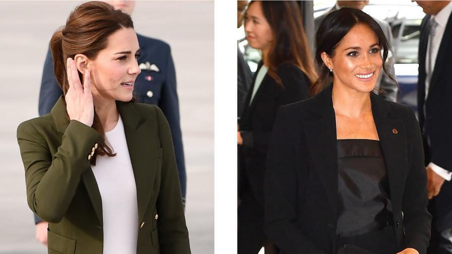 Едни от най-красивите дрехи на Кейт и Меган от 2018 г.