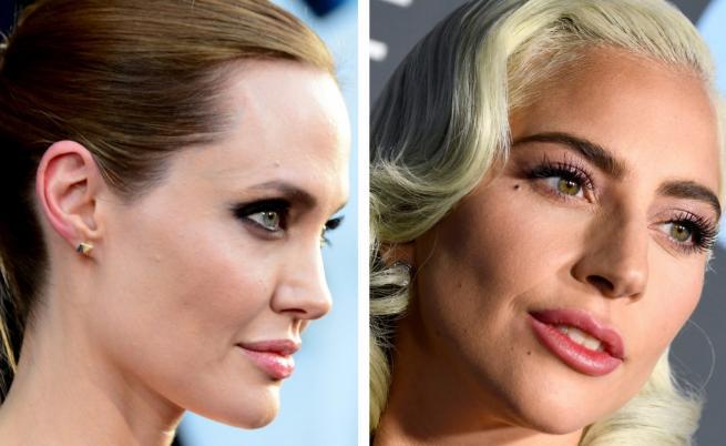Анджелина Джоли и Лейди Гага в надпревара