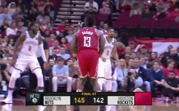 58 точки на Хардън не спряха Бруклин в НБА /репортаж/