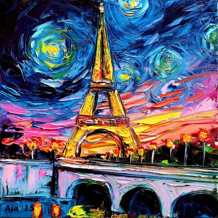 В ранните ми години като творец се фокусирах върху женските форми с маслени бои. С времето се поразчупих и през 2011 г. нарисувах Айфеловата кула, която потребителите в интернет счетоха за дело на Винсент ван Гог. Това, разбира се, беше нелепо, но бързо се разпространи из социалните мрежи и мрежите за споделяне на снимково съдържание с името на Ван Гог...