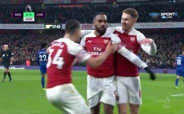 Арсенал - Челси 2:0 /първо полувреме/