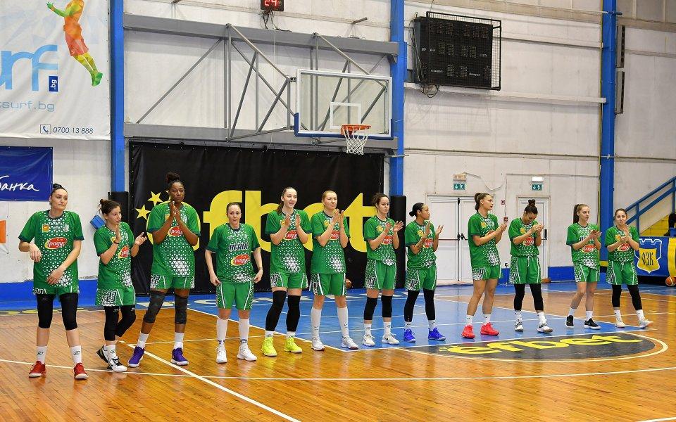 Баскетболистките на Берое разгромиха Славия в първия мач от първата четворка