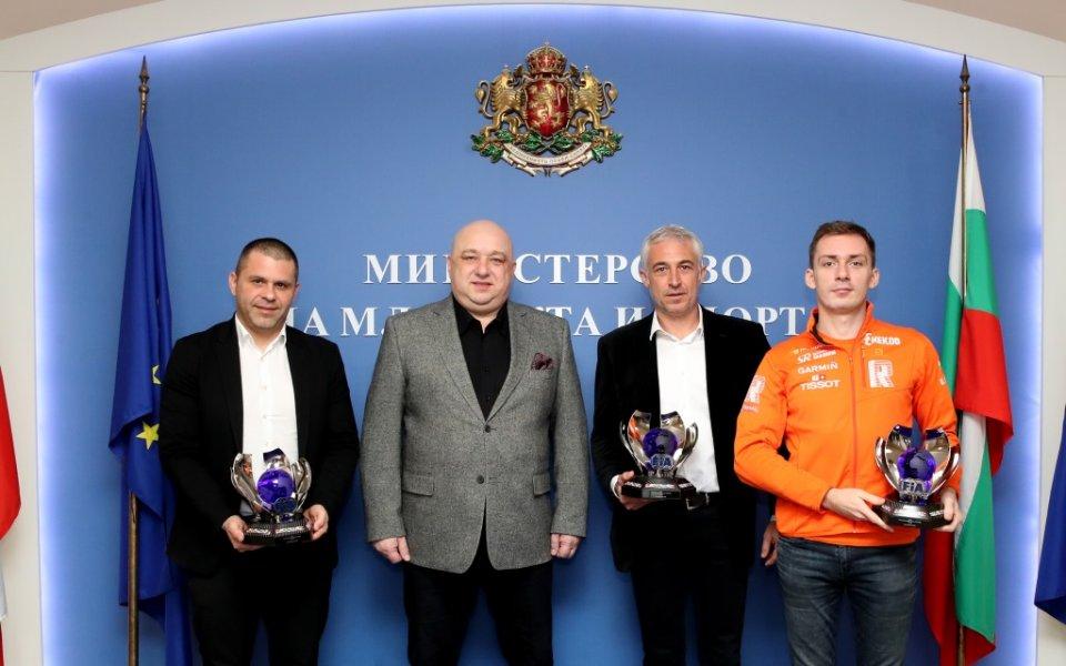 Спортният министър се срещна с балканските рали шампиони