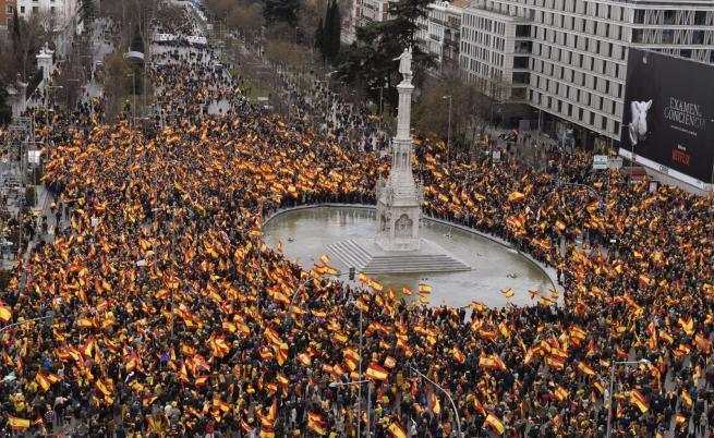 Десетки хиляди испанци излязоха на протест в Мадрид