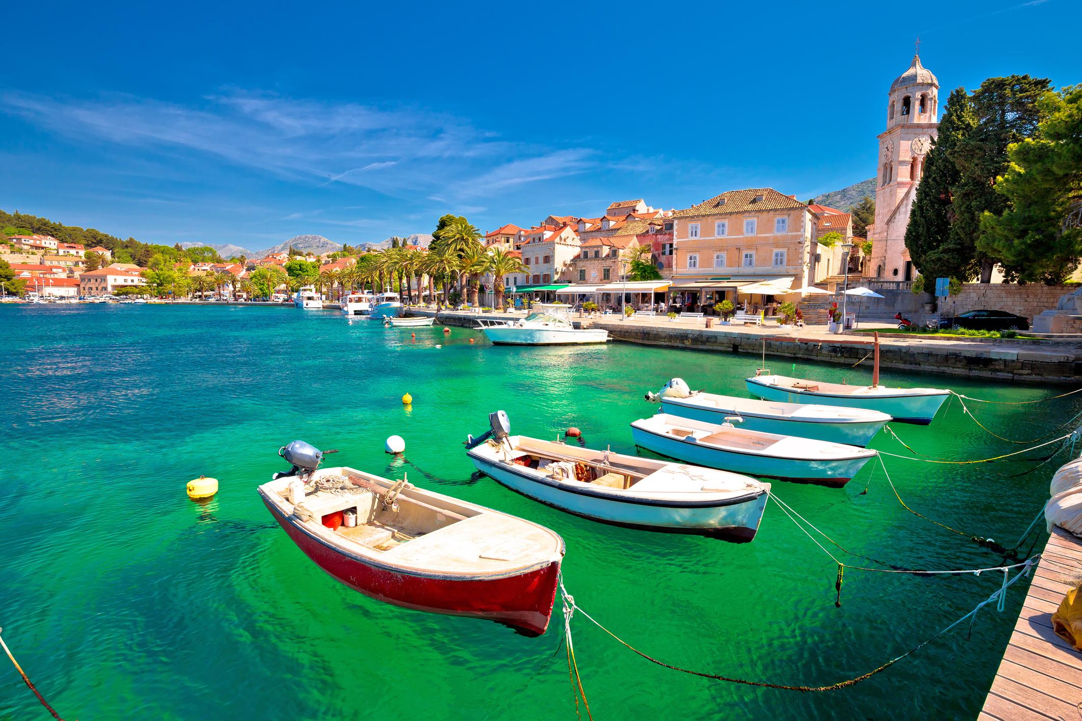 Цавтат е балканският представител сред европейските топ дестинации. Хърватският курортен град се намира на около 20 километра южно от Дубровник.