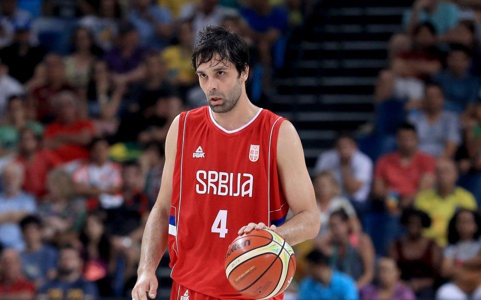 Сърбия отива на Световното по баскетбол без контузения си капитан