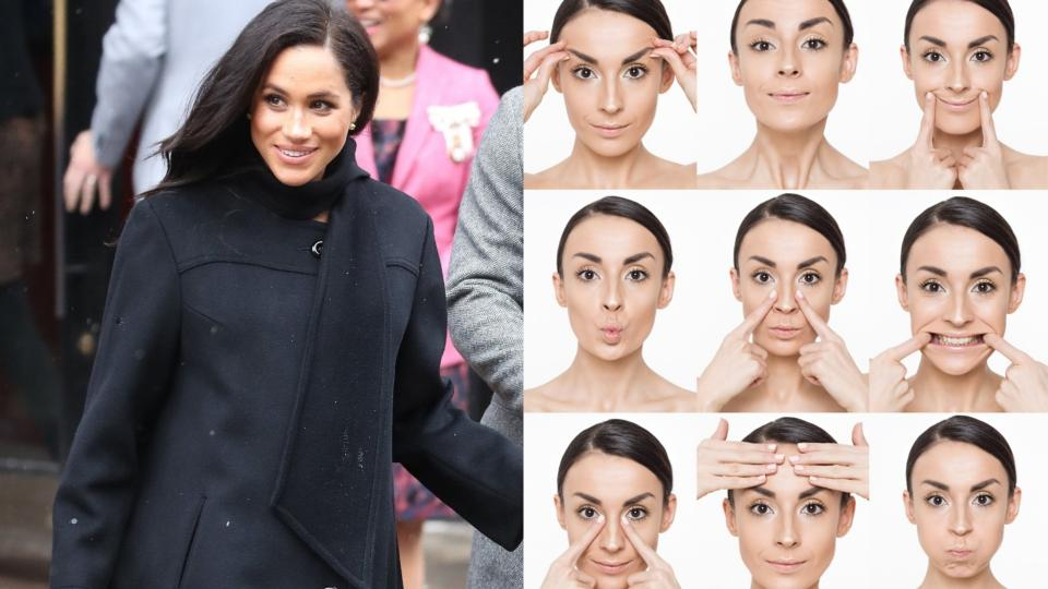 Правете йога за лице, за да имате здрава и красива кожа на лицето (и Меган Маркъл прави такава всеки ден!)