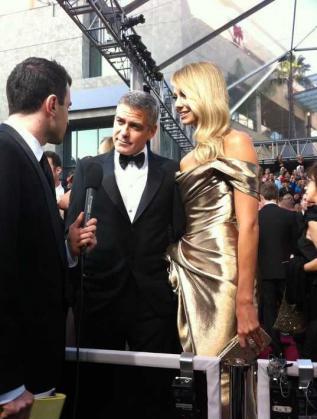 Ясен Дараков с Джордж Клуни и Стейси Киблър