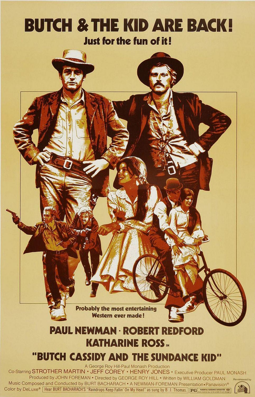 """Butch Cassidy and The Sundance Kid / """"Буч Касиди и Сънденс Кинд"""" (1969) – Режисьор: Джордж Рой Хил; Участват: Пол Нюман, Робърт Редфорд, Катрин Рос"""