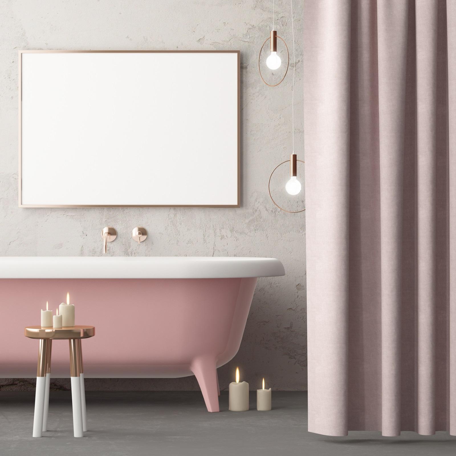 Нежни цветове, в тон с ваната
