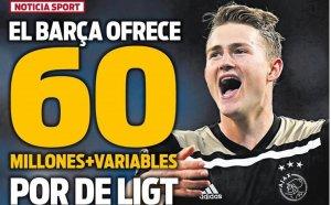 Барселона направи първата си оферта за Де Лихт