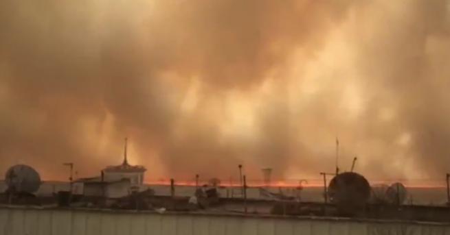 Свят Огромни пожари и сцени от ада в Русия Руското