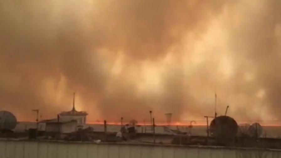 <p>Огромни пожари и сцени от ада в Русия</p>