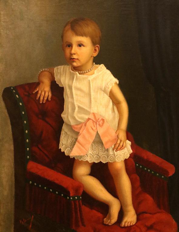 Константин Величков Детски портрет 1890г.
