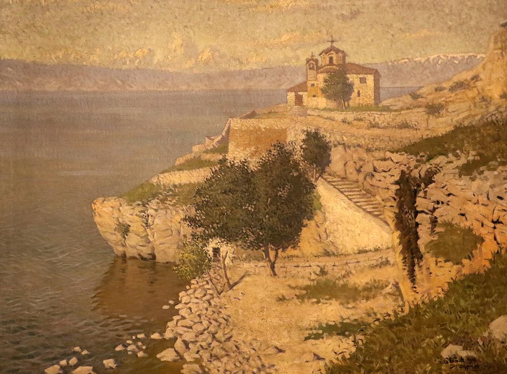 Борис Митов Охридското езеро 1918г.