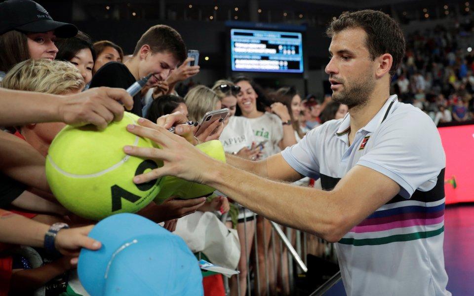 Звездата на българския тенис Григор Димитров определено спазва традициите, но