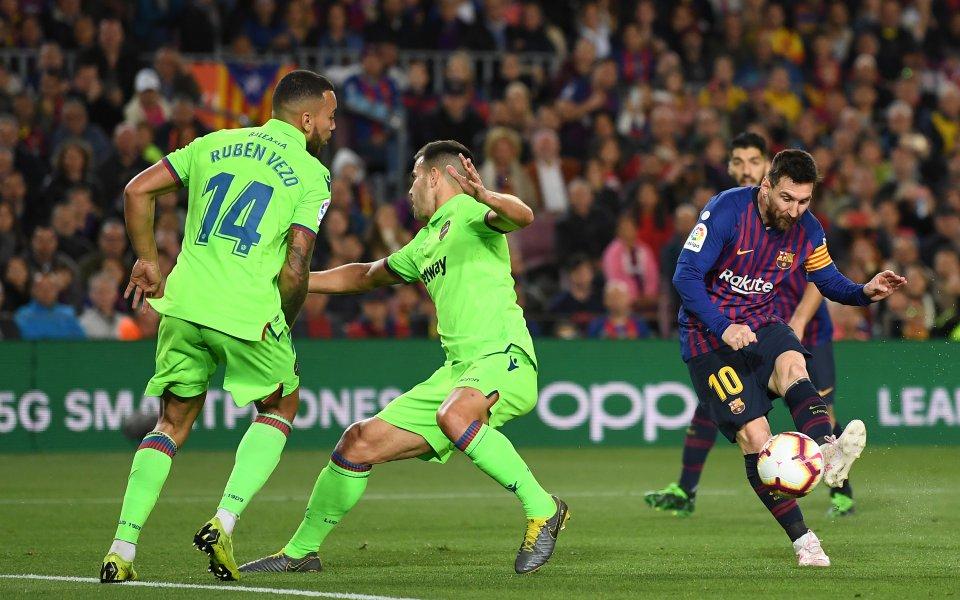 Лионел Меси вкара победния гол за Барселона при успеха с