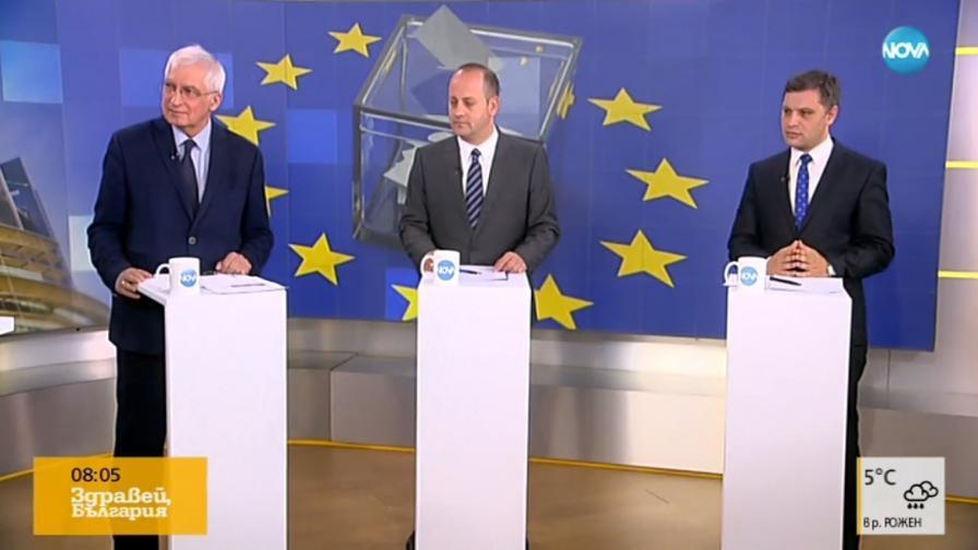 Кънев, Дуранкев и Сиди за ЕП и доходите