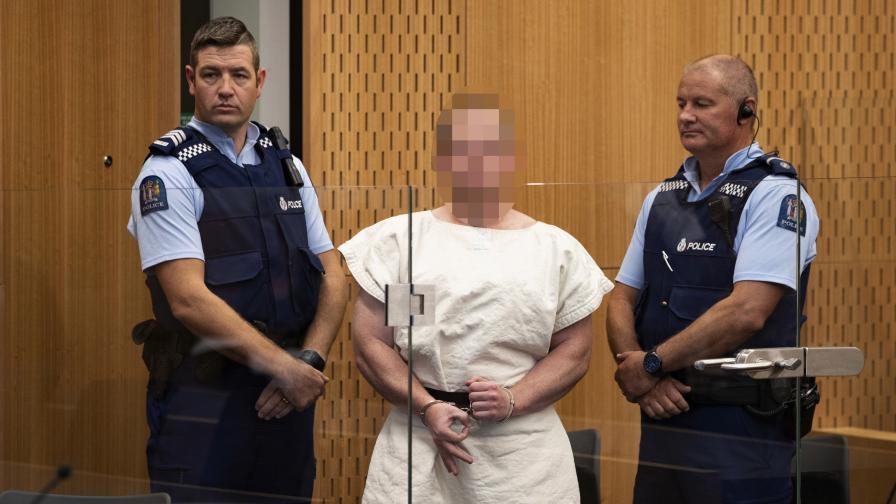 Обвиниха в тероризъм стрелеца от Нова Зеландия