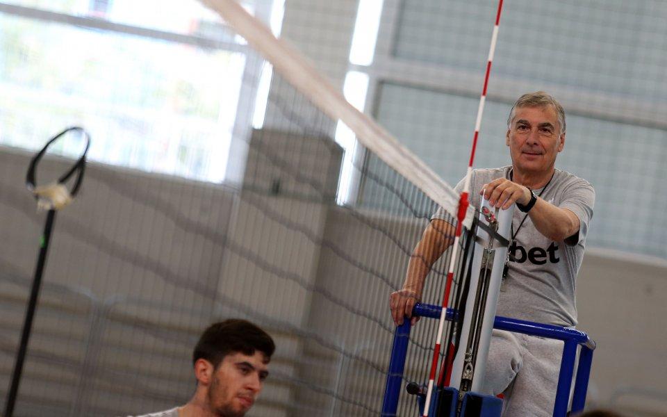 Селекционерът на българския национален отбор Силвано Пранди е доволен от