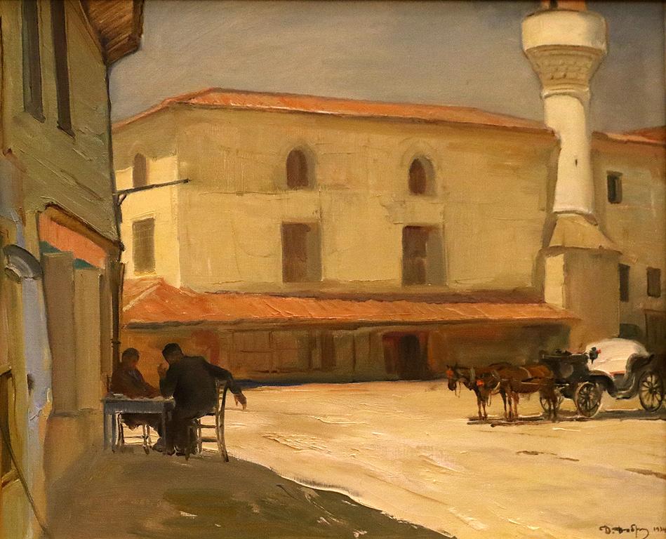 Сливен Площадът с джамията 1934
