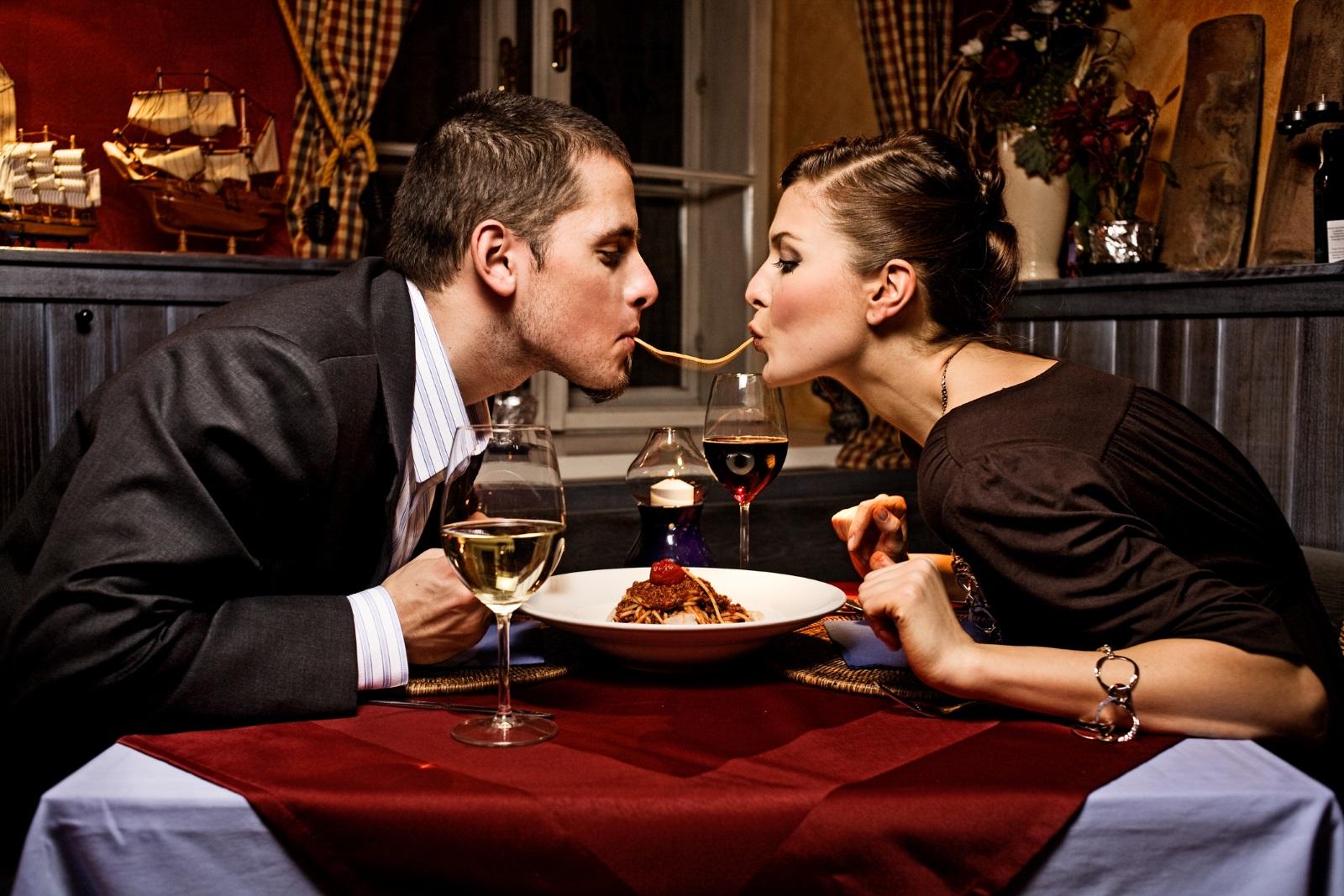 Вечеря в луксозен италиански ресторант.