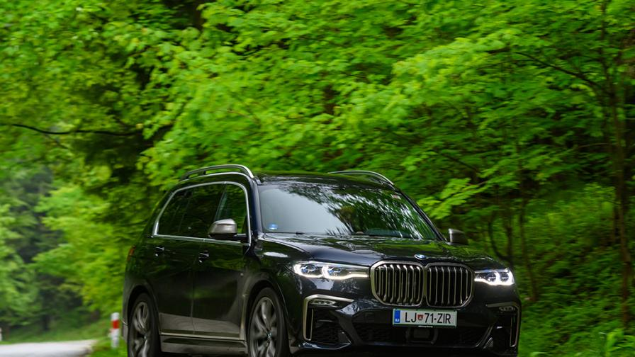 Зад волана на BMW X7