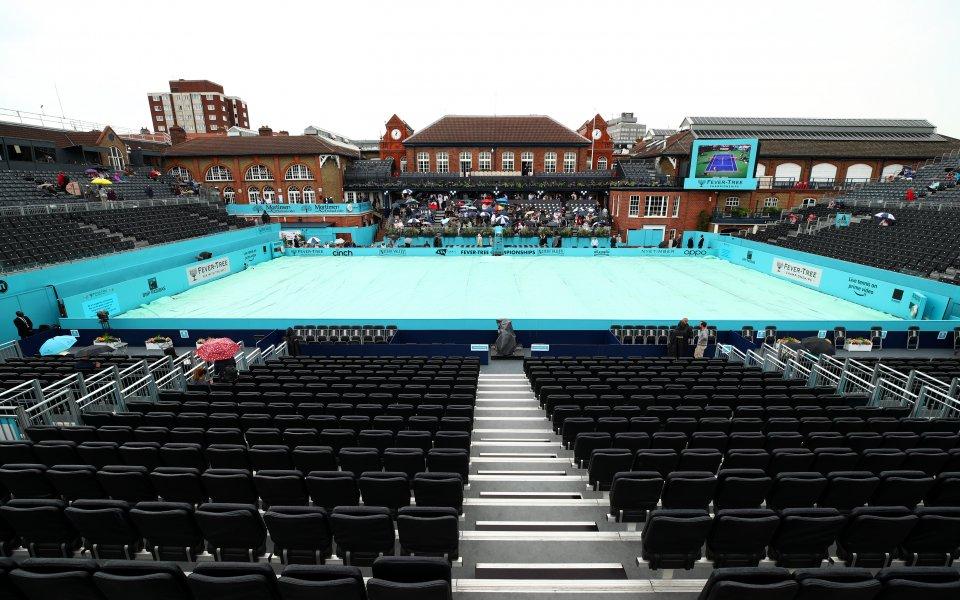 Дъжд обърка програмата за днешния ден на тенис турнира в