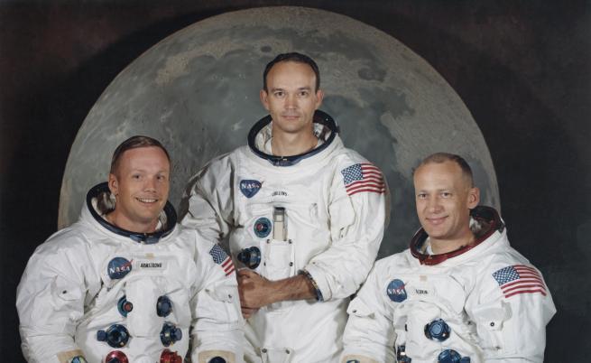 Появи се неизвестна досега снимка на екипа на Аполо 11