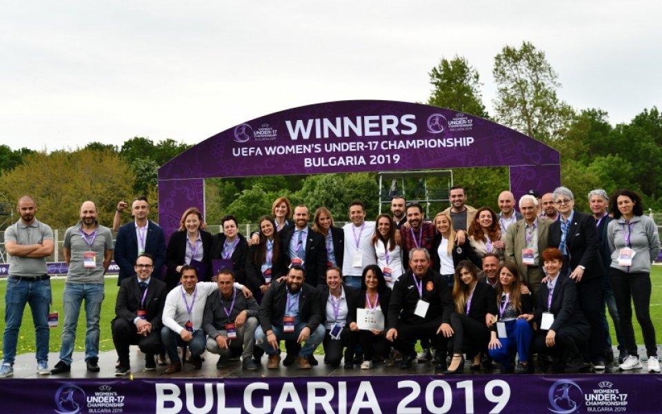 България с отлична оценка от УЕФА за организацията на Евро 2019
