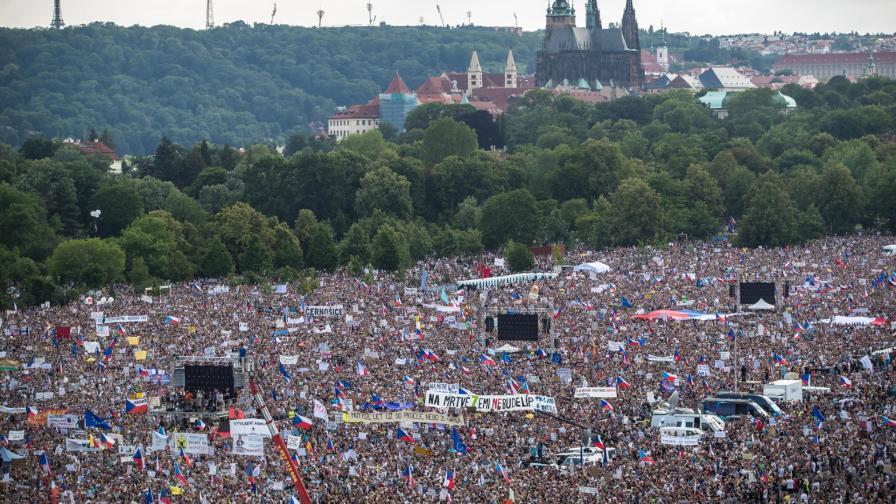 Протестът в Прага в неделя
