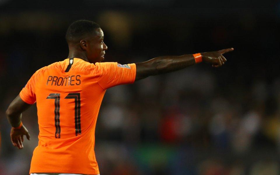 Полуфиналистът в Шампионската лига Аякс Амстердам официално представи крилото Куинси