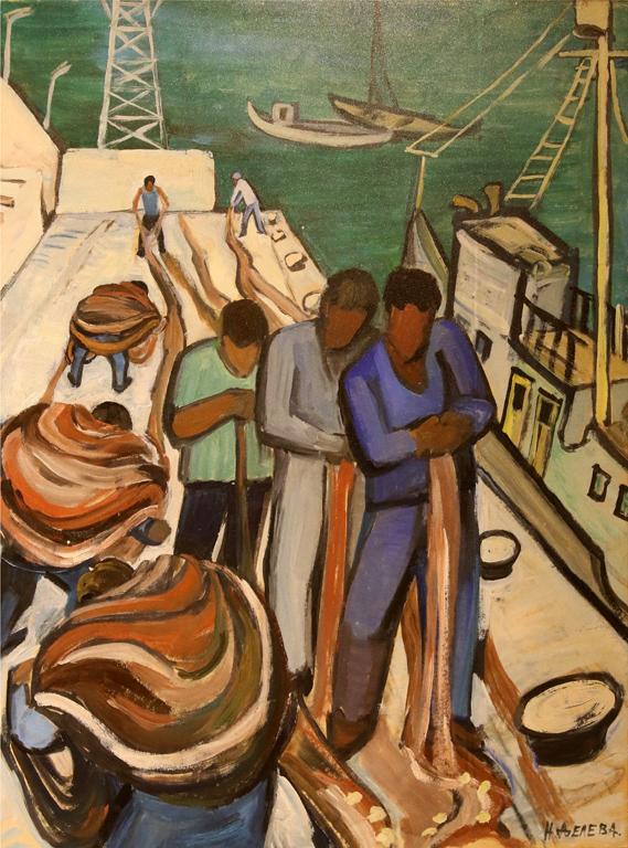 Надежда Делева Пред риболов 1940г.