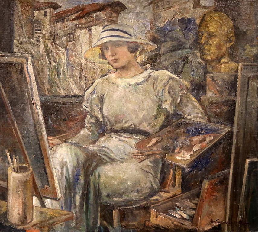 Никола Кожухаров Портрет на Невена Кожухарова 1930г.
