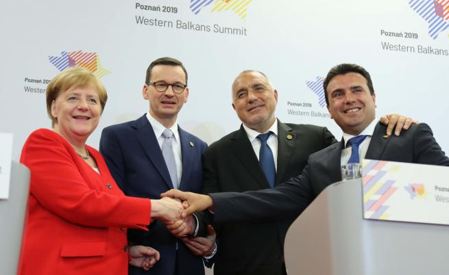Ангела Меркел, Матеуш Моравиецки, Бойко Борисов, Зоран Заев в Познан. Архив - юли 2019 г.