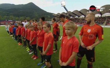 Ружомберок и Левски започнаха двубоя от Лига Европа