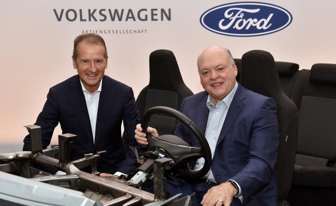 Е-колите на Ford ще използват платформата МЕВ на Volkswagen