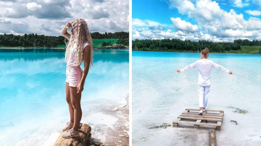 <p>Токсичното езеро, в което рускините са голи (СНИМКИ)</p>