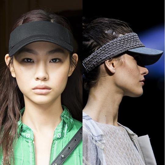 <p><b>Козирки</b><br /> Те са между бейзболни шапки и диадеми за коса. Придават спортно излъчване, но и оформят прическата. Must have покупка за сезона.</p>  <p><i>Снимки: Cedric Charlier, Emporio Armani</i></p>  <p><b><i>&nbsp;</i></b></p>