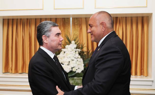 Премиерът Борисов се срещна с президента на Туркменистан Гурбангули Бердимухамедов
